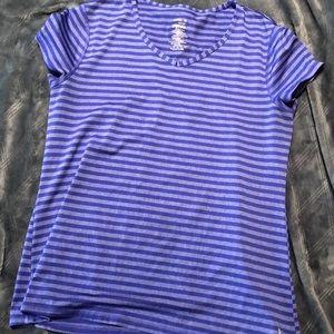 Danskin Now Purple Stripes T-Shirt